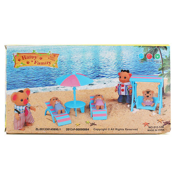1: 6 Sillas De Playa De Simulación Set Playhouse Props Dollhouse Creative DIY Material