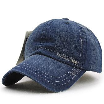 Unisex Cotton Washed Denim Baseball Cap Vintage Adjustable Golf Snapback Hat