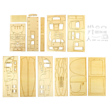 1:18 Wooden Sailing Boats Model DIY Assembly Building Kits Room Decoration Kids Gift