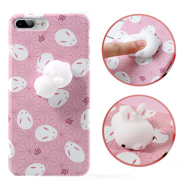 Bakeey™ Cartoon 3D Squishy Squeeze Slow Rising Cute Soft Rabbit PC Case for iPhone 7&7Plus