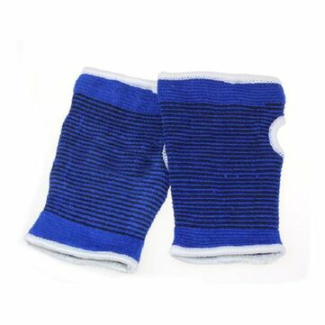 Multifunctional Fitness Palms Professional Knitted Pearl Blue Cotton Yarn Care Palm Gloves