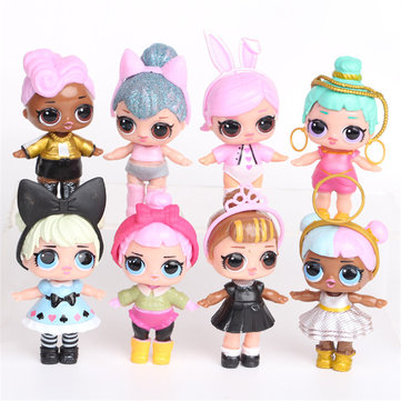 8PCS Surprise Girls Doll Hand Doll Cute Gift Collection With Spray Water Function
