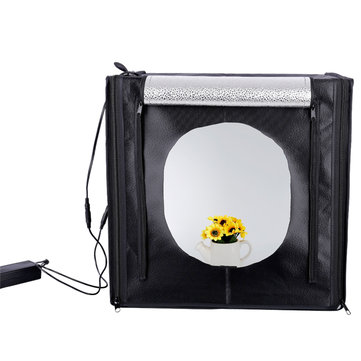 60cm Portable 60W 5500K White Photo Lighting Studio Photograghy Softbox LED Light Shooting Tent