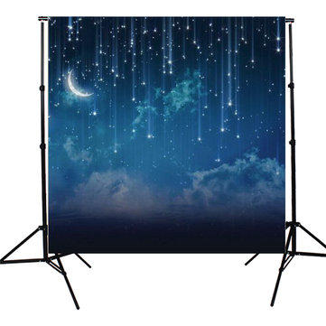 10x10FT Sky Star River Moon Night Photography Studio Vinyl Background Backdrop