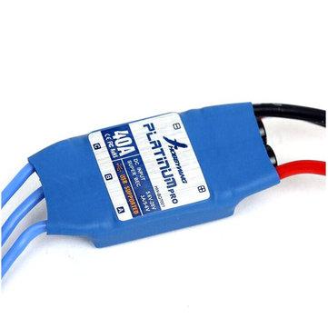 Hobbywing 40a platino pro sin cepillo del regulador de velocidad esc para el modelo del rc