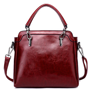 Women Elegant Oil-wax Handbag Shoulder Bag Crossbody Bags