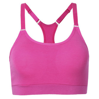 Wire Free Seamless Racerback Padded Thin Cup Yoga Running Bras Sportswear Tank Top
