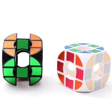 Classic Magic Cube Toys Round PVC Sticker Block Puzzle Speed Cube Sugar Color