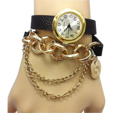 Случайные ожерелье Кожа PU длинный браслет браслет Женское Смотреть
