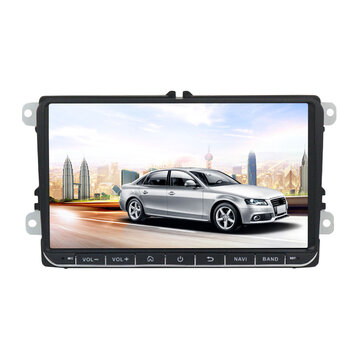9 Inch for Android 8 1 Car Stereo MP5 Player 1+16G Quad Core 2 DIN Touch  Screen GPS bluetooth WIFI for VW Skoda Seat