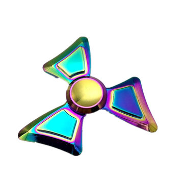 Couteau à couteaux tricolore coloré en forme Fidget Spinner à main EDC Réduisez le stress Attention Attention