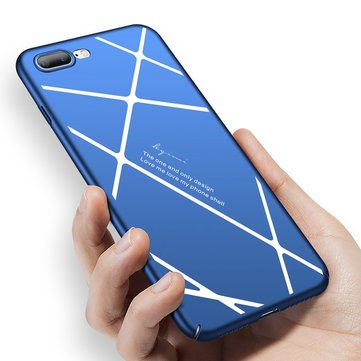 Stripped Lines Pattern Micro Matte Anti Fingerprint Case For iPhone 7 Plus/8 Plus