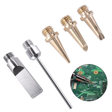 5pcs Self-Ignition Gas Soldering Iron Cordless Welding Kit Torch Ignition Butane Soldering Iron Tips
