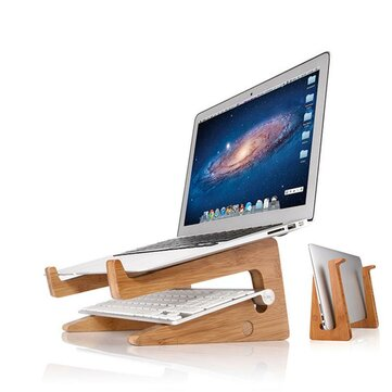 Ordenador portátil de enfriamiento de escritorio de madera Stand Holder para notebook / laptop / tablet PC / Macbook / iPad
