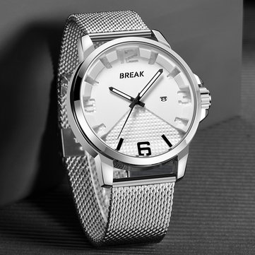 BREAK 3301 Calendar Simple Design Sport Men Wrist Watch