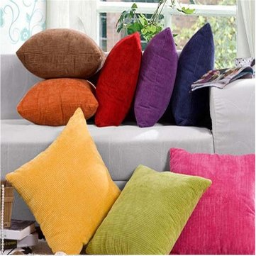Multi-color Office Square Corn Kernels Corduroy Sofa Decoration Throw Pillow Case Cushion Cover