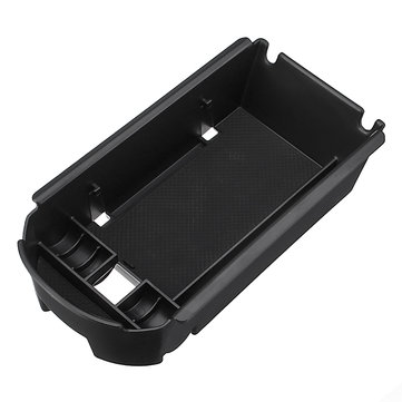 Black Plastic Car Center Armrest Console Storage Box Phone Holder Coin Organizer for Toyota CHR
