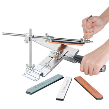 Professional Kitchen Sharpening Tool knife Sharpener System Fix-angle 4 Whestones Grindstone