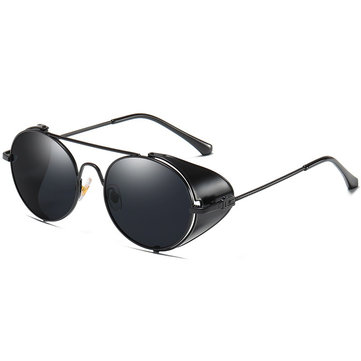 Unisex Vogue Vintage Metal Full-frame Anti-UV Sunglasses Outdoor Driving Beach Travel  Sunglasses