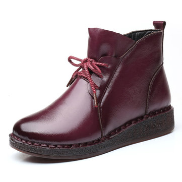 Casual Soft Leather Warm Boots For Women