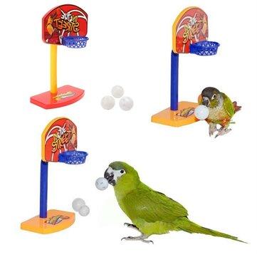 3 قطع الطيور الطيور مضغ الببغاء جرس كرات الببغاء اللعب بيردي السلة هوب الدعامة