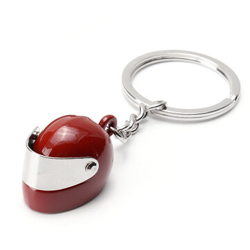 Motorcycle Helmet Shape Key Chain Ring Cute Bags Pendant Charm