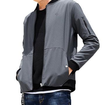 Waterproof Windproof Fleece Warm Soft Shell Varsity Jacket