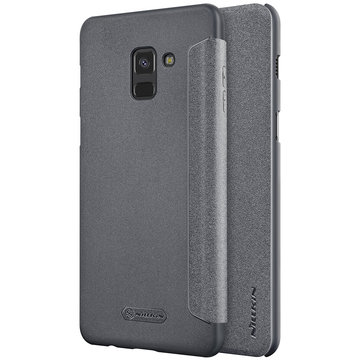 NILLKIN Flip PU Leather Hard PC Protective Case for Samsung Galaxy A8 (2018)