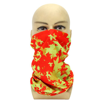 Universal Face Mask Leaves Headbrand Hat Bracer Cuff For Motorcycle Fishing Riding Skiing Running
