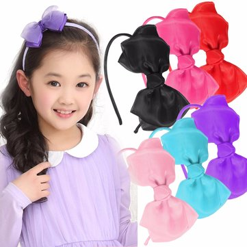 Girl Lady Bowknot Ribbon Headbrand Hair Band Hair Accessories Tool