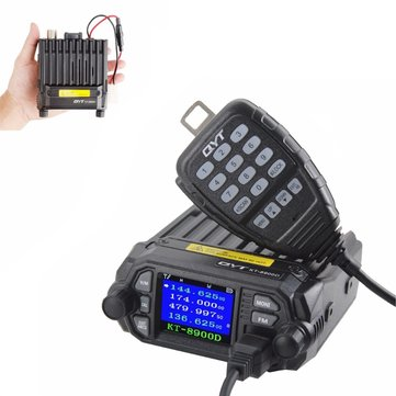 QYT KT-8900D 25W Mini LCD Vehicle Mounted Two Way Radio Upgrade KT-8900 Mobile Radio with Quad Band