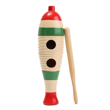 Wooden Guiro Fish Shaped Kid Children Musical Toy Gift Percussion Instrument