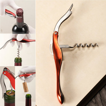 Multifunctional Stainless Steel Double Hinge Corkscrew Waiters Bars Wine Bottle Opener Gift