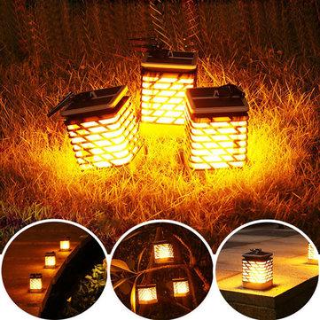 ソーラーパワー75 LED炎の芝生ランプ防水屋外庭景観庭の装飾
