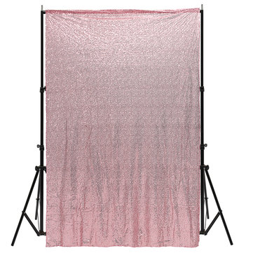 4X6FT Pink Fabric Sequins Photography Backgrond Backdrop Booth Wedding Curtains