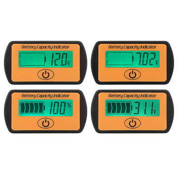 12/24/36/48V Digital LCD Lead-Acid Battery Percentage Voltmeter Voltage Meter Display