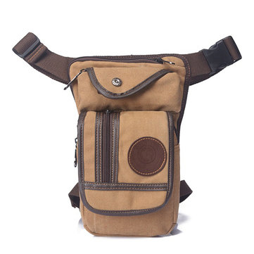 Climbing Drop Waist Bag Sport Casual Canvas Travel Bag 3 Zipper Pockets Leg Bag