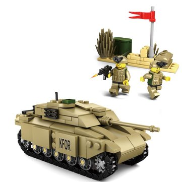 Kazi Tank Team Building Block Sets Toy Educational Gift Fidget Toys #84043 296 Push Pcs