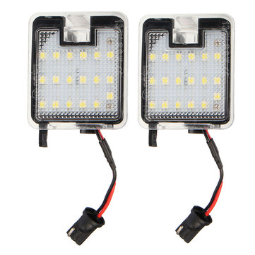 2PCS18LEDVoitureSide Miroir Puddle Lampe Décoration Lumières pour Pourd Mondeo MK4 IV 07-2014