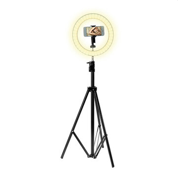 Portable Ring Light Tripod Stand Live Selfie Stick Holder USB Jack With Fill Light for Mobile Phones