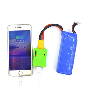 ZMR FPV Racing Outdoor Battery Charger to Mobile Phone / Drone 5.2V-26V 1.5A with Alarm XT60 Plug