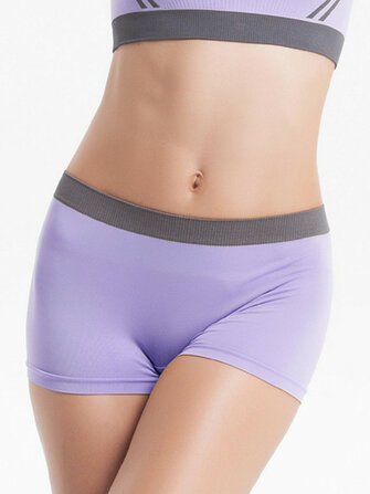 Woman Seamless Breathable Anti-bacterial Mid Waist Yoga Fitness Sports Shorts