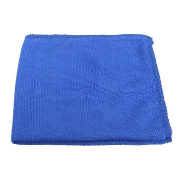 27cmx27cm Fiber Cleaning Tower Soft Washing Polishing Cloth Blue for Car Home Office