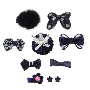 Cute Bowknot Flower Star Fuzz Ball Baby Hairpin Kid's Jewelry Set