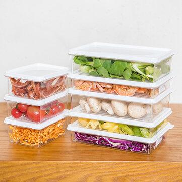 KCASA KC-SB06 Stackable Refrigerator Fridge Freezer Storage Box Stack Food Container Tray Organizer