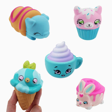 Mini Squishy Package 5PCS Slow Rising Toy Cute Mini Pendant Gift Collection