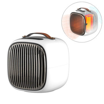 1000W Electric Heater Portable Winter Warmer Fan Camping Home Three Modes Heating Device With Adapter