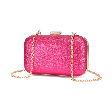 Women Dinner Bag Faux Leather Mini Phone Bag Crossbody Bag Sequins Clutch Bag
