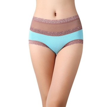 Women Sexy Embroidery Lace Panties Breathable Soft Underwear