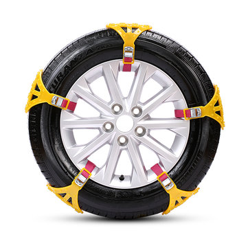 Car Snow Chain Tire Anti-skid Chains Thickened Beef Tendon Wheel Chain for Snow Mud Road